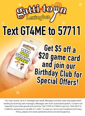 GattiTown | Pizza Games Birthday Parties Lexington, KY